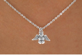 "<Br>             LEAD & NICKEL FREE!!<BR>  W14533N - SMALL BABY ANGEL<Br>CHILDREN'S 12"" CHAIN NECKLACE<BR>              FROM $3.55 TO $7.50"