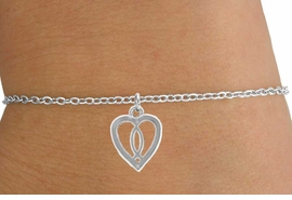 <Br>                LEAD & NICKEL FREE!!<BR>W14555B - CHRISTIAN FISH & HEART<Br>       CHILDREN'S CHAIN BRACELET<BR>                FROM $3.25 TO $7.50