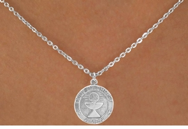 "<Br>                 LEAD & NICKEL FREE!!<BR>W14562N - ""BODY OF CHRIST AMEN""<Br>   CHILDREN'S 12"" CHAIN NECKLACE<BR>               FROM $3.55 TO $7.50"