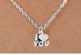 "<Br>             LEAD & NICKEL FREE!!<BR>   W14593N - ""I LOVE YOU"" ON A<Br>CHILDREN'S 12"" CHAIN NECKLACE<BR>                   AS LOW AS $3.55"
