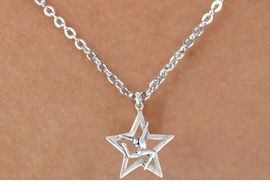 "<Br>              LEAD & NICKEL FREE!!<BR> W14595N - GYMNAST STAG LEAP<Br>CHILDREN'S 12"" CHAIN NECKLACE<BR>                   AS LOW AS $3.55<BR>           �2008"