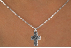 "<Br>             LEAD & NICKEL FREE!!<BR>     W14605N - CURLICUE CROSS<Br>CHILDREN'S 12"" CHAIN NECKLACE<BR>             FROM $3.55 TO $7.50"