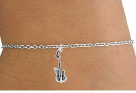 <Br>               LEAD & NICKEL FREE!!<BR>W14607B - ELECTRIC BASS GUITAR<Br>     CHILDREN'S CHAIN BRACELET<BR>                    AS LOW AS $3.25