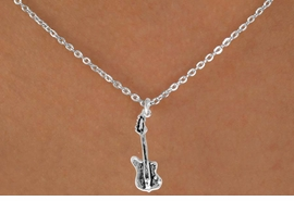 "<Br>               LEAD & NICKEL FREE!!<BR>W14608N - ELECTRIC BASS GUITAR<Br>  CHILDREN'S 12"" CHAIN NECKLACE<BR>                    AS LOW AS $3.55"