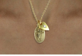 "<BR>                 LEAD & NICKEL FREE!!<Br>W14736N - INSPIRATIONAL 2-CHARM<Br>        GOLD FINISH ""FAITH"" CARD &<BR>      NECKLACE FROM $3.38 TO $7.50"