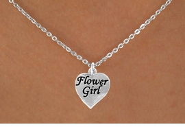"<Br>             LEAD & NICKEL FREE!!<BR>W14745N - ""FLOWER GIRL"" HEART<Br>CHILDREN'S 12"" CHAIN NECKLACE<BR>                   AS LOW AS $3.55"