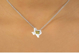 <Br>                LEAD & NICKEL FREE!!<br>W15094NE - TWO-TONE MINIATURE<Br>        TEXAS NECKLACE & EARRING<br>                SET AS LOW AS $6.30