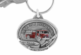 "<Br>                 LEAD & NICKEL FREE!!<Br>W15145KC - ""AMERICAN FIREFIGHTER""<Br>     PEWTER AND RED ENAMEL TRUCK<Br>                     KEY CHAIN  $1.99"