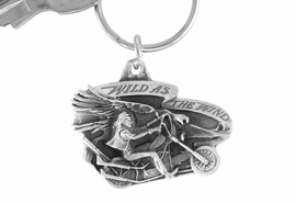 "<Br>              LEAD & NICKEL FREE!!<Br>W15667KC - ""WILD AS THE WIND""<Br> PEWTER MOTORCYCLE KEY CHAIN<bR>                             FROM $2.99"