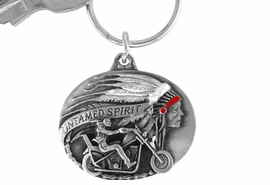 "<Br>                LEAD & NICKEL FREE!!<Br>    W15669KC - ""UNTAMED SPIRIT""<Br>ENAMELED MOTORCYCLE KEY CHAIN<bR>                              FROM $2.99"