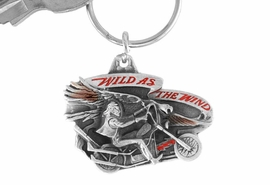 "<Br>                LEAD & NICKEL FREE!!<Br>   W15670KC - ""WILD AS THE WIND""<Br>ENAMELED MOTORCYCLE KEY CHAIN<bR>                             FROM $2.99"
