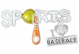 "<Br>              LEAD & NICKEL FREE!!<Br>W16322P - ""SPORTS"" AND ""I LOVE<Br>     BASEBALL"" CHARM PIN FROM<Br>                     $2.81 TO $6.25"