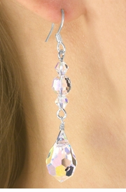 <Br>           LEAD & NICKEL FREE!!<Br>W16460E - AURORA BOREALIS<Br> COLORED GENUINE AUSTRIAN<Br>     CRYSTAL EARRINGS FROM<Br>                 $7.85 TO $17.50