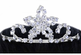 <BR>             LEAD & NICKEL FREE!!<Br>W16494T - MINIATURE AUSTRIAN<Br>      CRYSTAL STAR TIARA COMB<Br>             FROM $3.35 TO $7.50