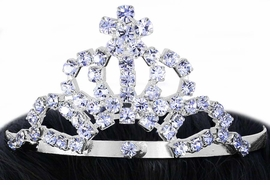 <Br>             LEAD & NICKEL FREE!!<Br>   W16496T - GENUINE AUSTRIAN<Br>CRYSTAL STAR-TIPPED PRINCESS<Br>   MINIATURE TIARA COMB FROM<Br>                  $3.35 TO $7.50