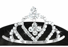 <Br>             LEAD & NICKEL FREE!!<Br>   W16610T - GENUINE AUSTRIAN<Br>CRYSTAL MINIATURE TIARA COMB<BR>              FROM $3.35 TO $7.50