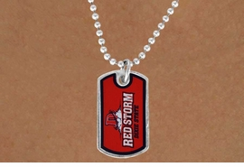 "<Br>              LEAD & NICKEL FREE!!<bR>W16931N - LICENSED DIXIE STATE<Br> COLLEGE ""RED STORM""  DOG TAG<bR>  NECKLACE FROM $3.94 TO $8.75"
