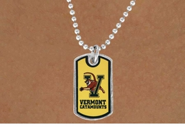 <Br>            LEAD & NICKEL FREE!!<bR>       W17173N - LICENSED<Br> UNIVERSITY OF VERMONT  DOG<bR> TAG NECKLACE FROM $3.94 TO 8.75