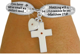 <Br>                    LEAD & NICKEL FREE!!<BR>              W17625B - MUSTARD SEED<Br> CHARMS & SCRIPTURE MATTHEW 17-20<br>TOGGLE BRACELET FROM $6.19 TO $13.75