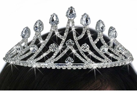<Br>              LEAD & NICKEL FREE!!<Br>  W17682T - STUNNING GENUINE<Br>AUSTRIAN CRYSTAL CROWN TIARA<Br>           FROM $11.81 TO $26.25