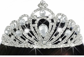 <Br>          LEAD & NICKEL FREE!!<Br>W17709T - GENUINE AUSTRIAN<Br>          CRYSTAL TIARA FROM<Br>               $11.81 TO $26.25