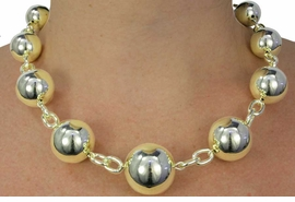 <Br>                LEAD & NICKEL FREE!!<Br>     W18030NE - HIGH POLISHED <BR> GOLD TONE BEADED NECKLACE &<Br>   EARRINGS FROM $9.00 TO $20.00