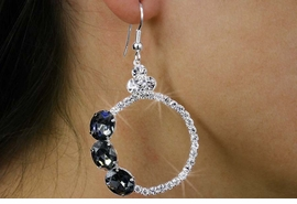 <BR>                LEAD & NICKEL FREE!!<Br>       W18248E - GENUINE AUSTRIAN <Br>            CRYSTAL RING EARRINGS<BR>                FROM $2.81 TO $6.25
