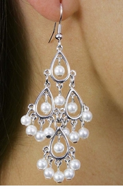 <Br>                LEAD & NICKEL FREE!!<Br>W18326E - BEAUTIFUL CHANDELIER<Br>  SYNTHETIC PEARL DROP EARRINGS<Br>               FROM $5.63 TO $12.50