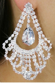 "<Br>             LEAD & NICKEL FREE!!<Br>      W18328E - LARGE, GENUINE<Br>     AUSTRIAN CRYSTAL ""DRAPE""<Br>EARRINGS FROM $8.44 TO $18.75"