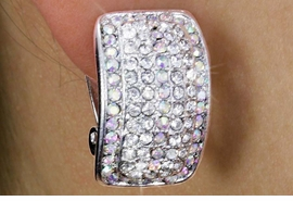 "<Br>            LEAD & NICKEL FREE!!<Br>  W18335E - GENUINE AUSTRIAN<Br>CRYSTAL ""CURVED RECTANGLE""<Br>       CLIP-ON EARRINGS FROM<br>                 $6.75 TO $15.00"