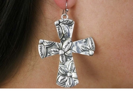 <Br>              LEAD & NICKEL FREE!!<BR>    W18371E - ANTIQUE SILVER TONE <BR> CROSS EARRINGS FROM $7.31 TO $16.25