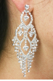 <BR>                LEAD & NICKEL FREE!!<Br>       W18872E - GENUINE AUSTRIAN <Br> CRYSTAL CHANDELIER EARRINGS<BR>                FROM $6.75 TO $15.00