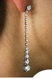 <Br>                 LEAD & NICKEL FREE!!!<BR>              W18960E - HEMATITE AND<br>         AUSTRIAN CRYSTAL DANGLING <BR>      EARRINGS FROM $6.75 TO $15.00