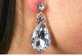<BR>                        LEAD & NICKEL FREE!!<Br>        W19016E - VINTAGE STYLE GENUINE  <Br>    AUSTRIAN CRYSTAL TEAR DROP SHAPED<BR>       EARRINGS FROM $4.50 TO $10.00