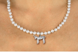 "<Br>                     LEAD & NICKEL FREE!! <Br>       W19444N -  JEWISH  ""CHAI""  (LIFE) <BR> CHARM ON 6MM PEARL BEAD NECKLACE <BR>            FROM $4.73 TO $10.50 �2012"