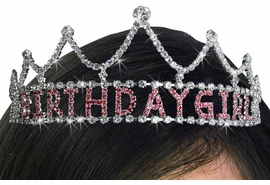 "<bR>          LEAD & NICKEL FREE!!<bR>W19486T - GENUINE AUSTRIAN<Br>    CRYSTAL PRINCESS STYLED<bR>   ""BIRTHDAY GIRL"" TIARA <Br>        FROM $10.13 TO $22.50"