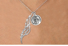 <Br>               LEAD & NICKEL FREE!! <Br>W19687N - ELEGANT AUSTRIAN CRYSTAL <Br>ACCENTED ANGEL WING PENDANT AND <Br>ST. CHRISTOPHER - PROTECT ME CHARM & <BR>     NECKLACE FROM $6.19 TO $13.75<BR>                                   �2012