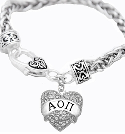 <BR>     LICENSED SORORITY JEWELRY MANUFACTURER<BR>           ALPHA OMICRON PI SORORITY BRACELET<BR>                 NICKEL, LEAD,  & CADMIUM FREE! <BR>                                 HYPOALLERGENIC<BR>                       EXCLUSIVELY OURS W1746B1<BR>               FROM $7.90 TO $12.50 EACH �2015