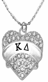 <BR>     LICENSED SORORITY JEWELRY MANUFACTURER<BR>           KAPPA DELTA SORORITY NECKLACE<BR>                 NICKEL, LEAD,  & CADMIUM FREE! <BR>                                 HYPOALLERGENIC<BR>                       EXCLUSIVELY OURS W1738B1<BR>               FROM $7.90 TO $12.50 EACH �2015