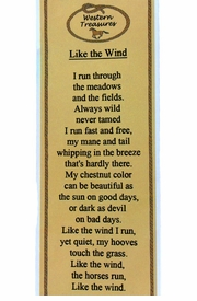 "<BR>              ""LIKE THE WIND""<bR>CLICK TO ENLARGE AND READ!"