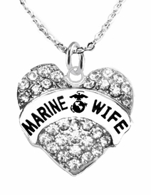 "<BR>""MARINE WIFE"" NECKLACE EXCLUSIVELY OURS!!   <Br>                     AN ALLAN ROBIN DESIGN!!   <BR>              NICKEL, LEAD & CADMIUM FREE!!   <BR>      W1811N1- FROM $5.98 TO $12.85 �2016"