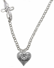 """ My Firefighter, God Has You In His Arms, And  I Have You In My Heart ""<BR>                    No Nickel, Lead, Or Poisonous Cadmium In Necklace<br>                              W1900N35 Crystal Cross Rolo Chain Necklace <BR>                                                               $12.38 �2017"