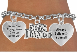 "<BR>            "" 5 6 7 8 DANCE "" ADJUSTABLE CHARM BRACELET WHOLESALE <bR>                 W21468B - THE NEW WAY TO EXPRESS LOVE, MOTIVATION,<BR>          POSITIVE, AFFIRMATIVE EXPRESSIONS, THAT WILL GO PERFECTLY<br>        WITH ANOTHER POSITIVE AFFIRMATION CHARM IF YOU WANT  ONE,<BR>   MORE CHOICES LOOK BELOW,  CHARM BRACELET FROM $9.73 TO $14.58<BR>                                    CostumeJewelryWholesale.com �2014"