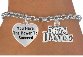 "<BR>                           "" 5 6 7 8 DANCE "" CHARM BRACELET WHOLESALE <bR>                 W21469B - THE NEW WAY TO EXPRESS LOVE, MOTIVATION,<BR>          POSITIVE, AFFIRMATIVE EXPRESSIONS, THAT WILL GO PERFECTLY<br>        WITH ANOTHER POSITIVE AFFIRMATION CHARM IF YOU WANT  ONE,<BR>   MORE CHOICES LOOK BELOW,  CHARM BRACELET FROM $9.73 TO $14.58<BR>                                    CostumeJewelryWholesale.com �2014"