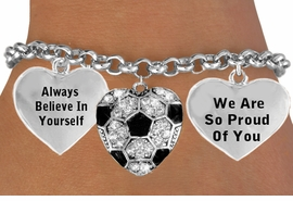 <BR>                      SOCCER BALL HEART CHARM BRACELET WHOLESALE <bR>                 W21409B - THE NEW WAY TO EXPRESS LOVE, MOTIVATION,<BR>          POSITIVE, AFFIRMATIVE EXPRESSIONS, THAT WILL GO PERFECTLY<br>        WITH ANOTHER POSITIVE AFFIRMATION CHARM IF YOU WANT  ONE,<BR>   MORE CHOICES LOOK BELOW,  CHARM BRACELET FROM $9.73 TO $14.58<BR>                                    CostumeJewelryWholesale.com �2014