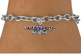 <BR>              WRESTLING MOM TOGGLE CHAIN BRACELET<BR>                  AN ORIGINAL ALLAN ROBIN CUSTOM DESIGN<br>                                WHOLESALE CHARM BRACELET <BR>                              LEAD, CADMIUM & NICKEL FREE!!  <BR>    W21536B-HIGH POLISHED, BRIGHT ANTIQUE SILVER TONE  <BR>            FITS ALL SIZES FROM $4.50 TO $8.35 EACH! ©2014