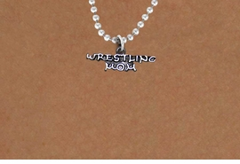 "<BR>       WRESTLING MOM ADJUSTABLE BALL CHAIN NECKLACE<BR>                  AN ORIGINAL ALLAN ROBIN CUSTOM DESIGN<br>                                WHOLESALE CHARM NECKLACE <BR>                              LEAD, CADMIUM & NICKEL FREE!!  <BR>    W21521N-HIGH POLISHED, BRIGHT ANTIQUE SILVER TONE  <BR>          18"" INCH CHAIN  FROM $5.60 TO $9.85 EACH! ©2014"
