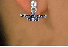 <BR>WRESTLING MOM BRIGHT SILVERTONE NON-ALLERGIC POST EARRINGS<BR>                           AN ORIGINAL ALLAN ROBIN CUSTOM DESIGN<br>                                         WHOLESALE CHARM EARRINGS <BR>                                       LEAD, CADMIUM & NICKEL FREE!!  <BR>                          W21539E-BRIGHT SILVER TONE POST EARRINGS <BR>                                       FROM $4.65 TO $8.45 EACH! ©2014