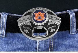 "<Br>     OFFICIALLY LICENSED COLLEGE!!<Br>W17767BK - AUBURN UNIVERSITY<Br> TIGERS ""OFFICIAL TAILGATER"" BELT<Br>       BUCKLE WITH BOTTLE OPENER<Br>                                     $15.85"