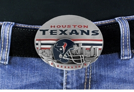 "<Br>                 OFFICIALLY LICENSED NFL!!<Br>     W17764BK - HOUSTON ""TEXANS"" LOGO <Br>       BELT BUCKLE YOUR LOW PRICE IS $15.85"